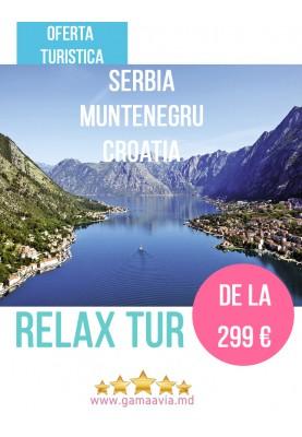 Relax tur : Serbia-Muntenegru-Croatia