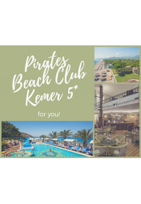 Turcia! Pirates Beach Club Kemer 5* - 496 €