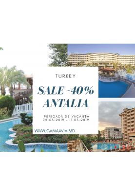 ANTALYA! -40% SALE! Cele mai populare hotele!