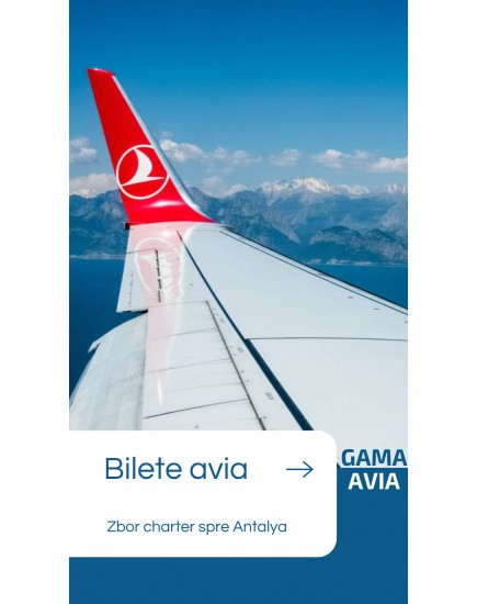 Zbor Charter! Chisinau — Antalya!