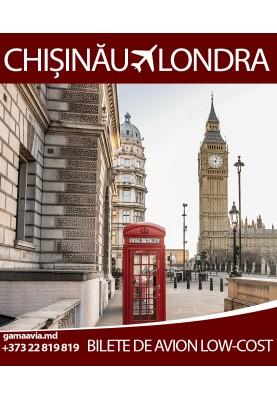 Bilete avia Low-Cost! Zbor Chisinau - Londra la doar 55 euro!