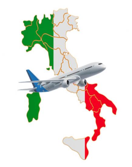 Vezi cele mai ieftine bilete de avion spre Italia! ✈️