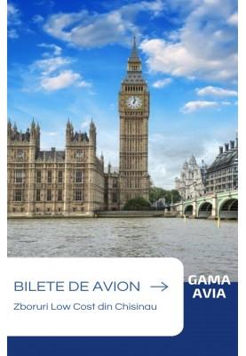 Zbor Low Cost!  Bilete de avion Chisinau — Londra!