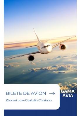 Reducere 20% la zborurile din Chisinau! Bilete de avion ieftine!