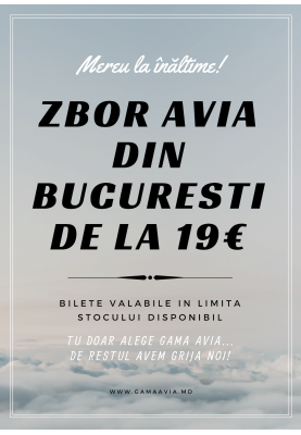 Zboruri avia din București de la 19 €