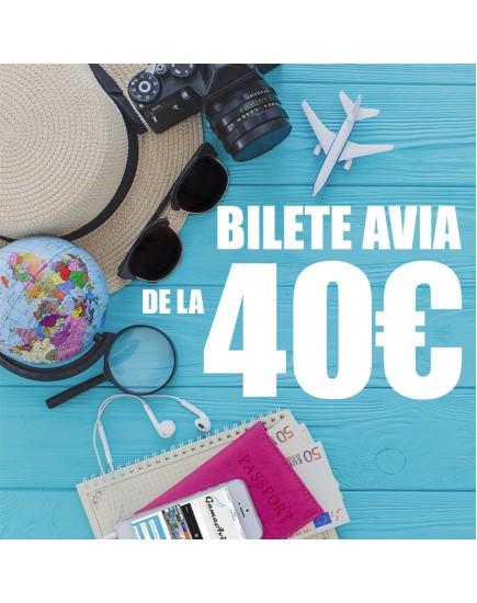 Fii pregătit din timp, bilete avia de la 40€