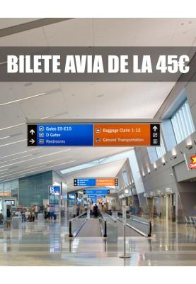 BILETE AVIA DE LA 45 €