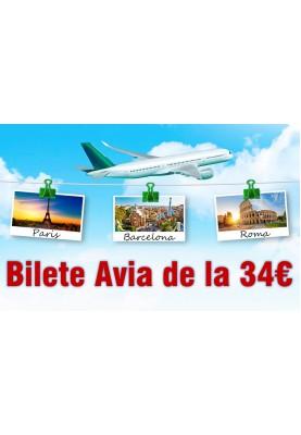 Bilete ieftine de avion de la 34€