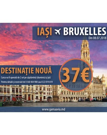 Cursă nouă IAȘI – Bruxelles Charleroi