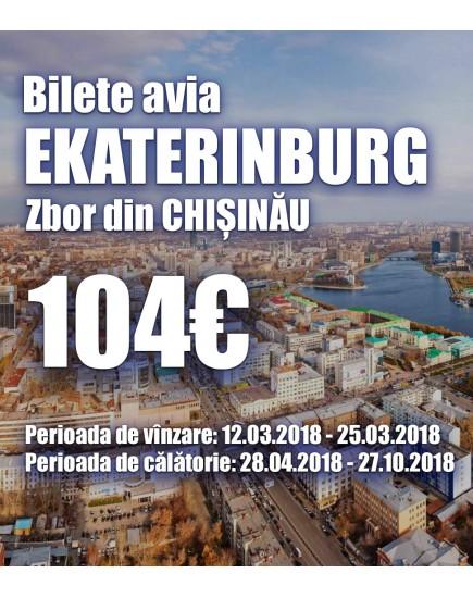Ofertă specială pentru cursa Chişinău – Ekaterinburg